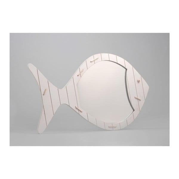 Zrcadlo White Fish, 38x65 cm