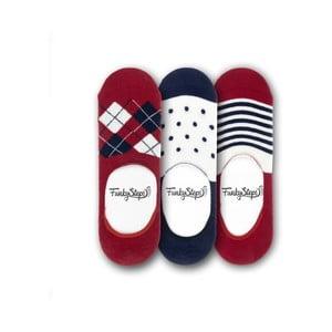 Sada 3 párů nízkých ponožek Funky Steps Glad, velikost 39 – 45