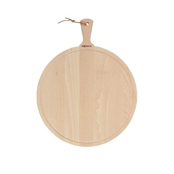 Servírovací prkénko z naolejovaného bukového dřeva Boska Serving Board Round Amigo, 53,5 x 42 cm