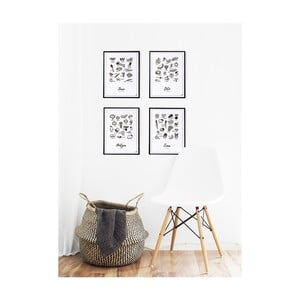 Sada 4 plakátů Follygraph Čtvero ročních období, 21x30cm