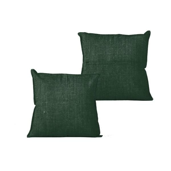Zelený vankúš Linen Couture Moss, 45x45cm