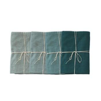 Set 4 șervețele textile Linen Couture Turquoise, 43 x 43 cm imagine