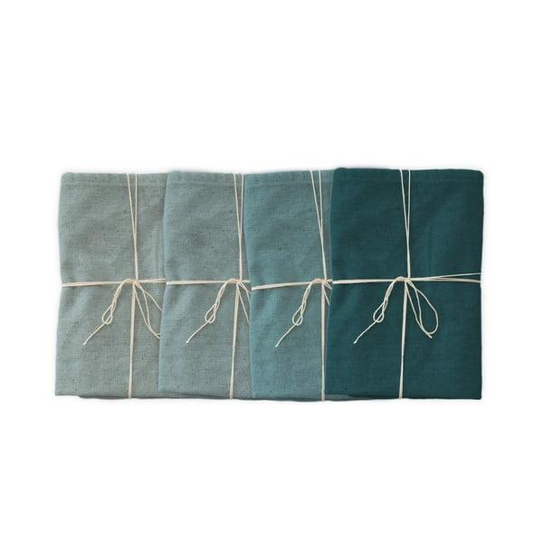 Set 4 șervețele textile Linen Couture Turquoise, 43 x 43 cm