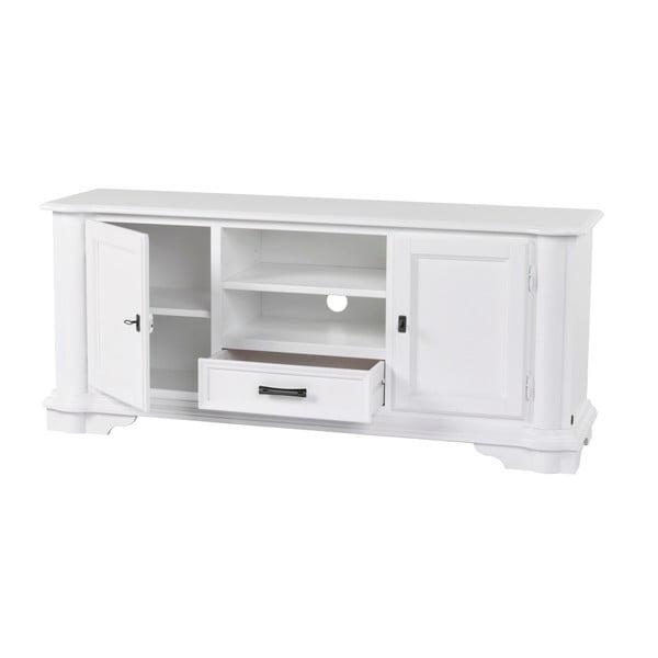 Bílý TV stolek Folke Amadeus, délka150cm