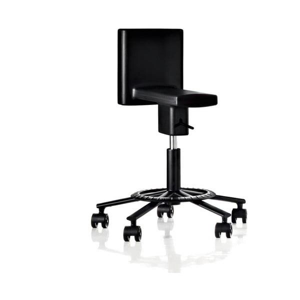 Czarne obracane krzesło biurowe Magis 360