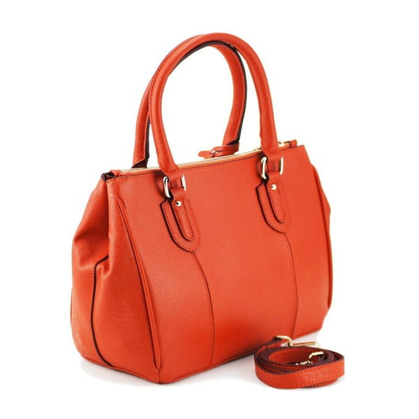 Kožená kabelka Claire Orange