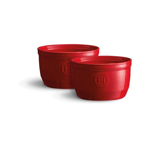 Set 2 forme ramekin din ceramică Emile Henry N°10, roșu