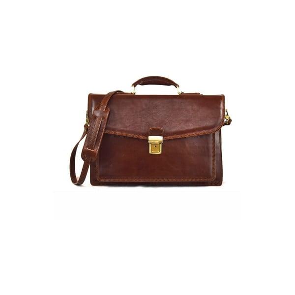 Kožená taška Santo Croce VL8241 Brown