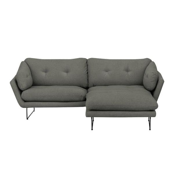 Set šedozelené třímístné pohovky a sedacího pufu Windsor & Co Sofas Comet