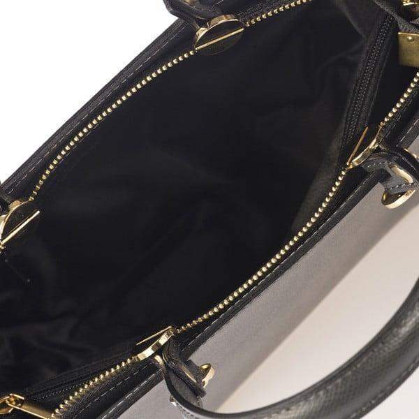 Šedá kožená kabelka Giulia Massari Karina