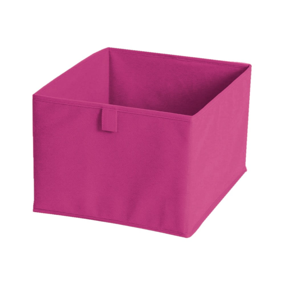 Růžový textilní úložný box JOCCA, 30 x 30 cm