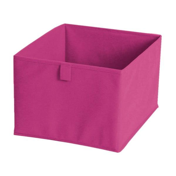 Cutie pentru depozitare din material textil, 30 x 30 cm, roz