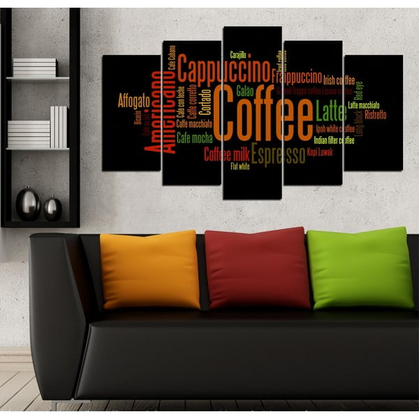 5dílný obraz Kávové dilema