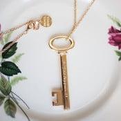 Náhrdelník Key to happines, zlatý