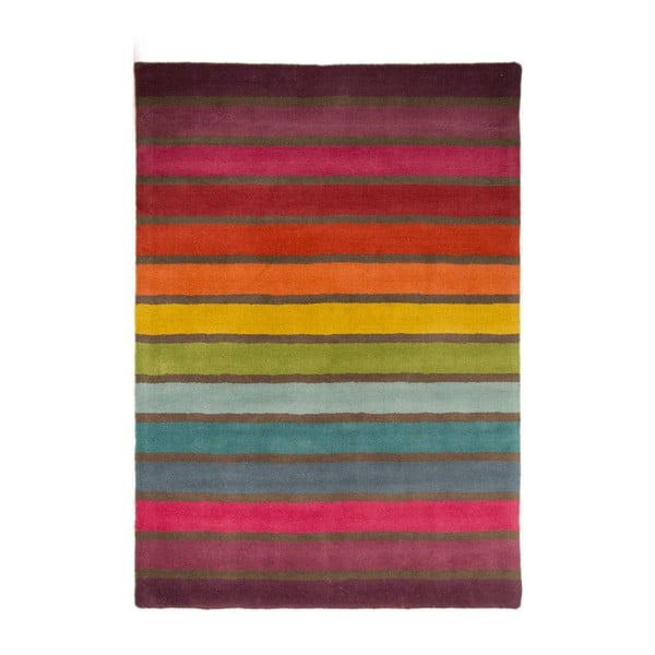 Illusion Candy gyapjú szőnyeg, 80 x 150 cm - Flair Rugs