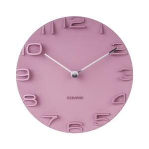Růžové hodiny Karlsson On The Edge, Ø 42 cm