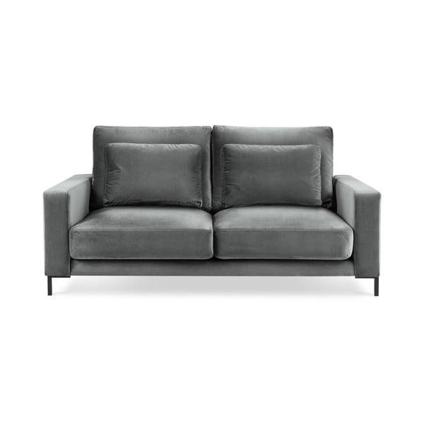 Seine világosszürke bársony kanapé, 158 cm - Interieurs 86