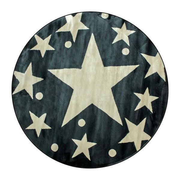 Dětský koberec Stars Sky Gris, ⌀ 150 cm