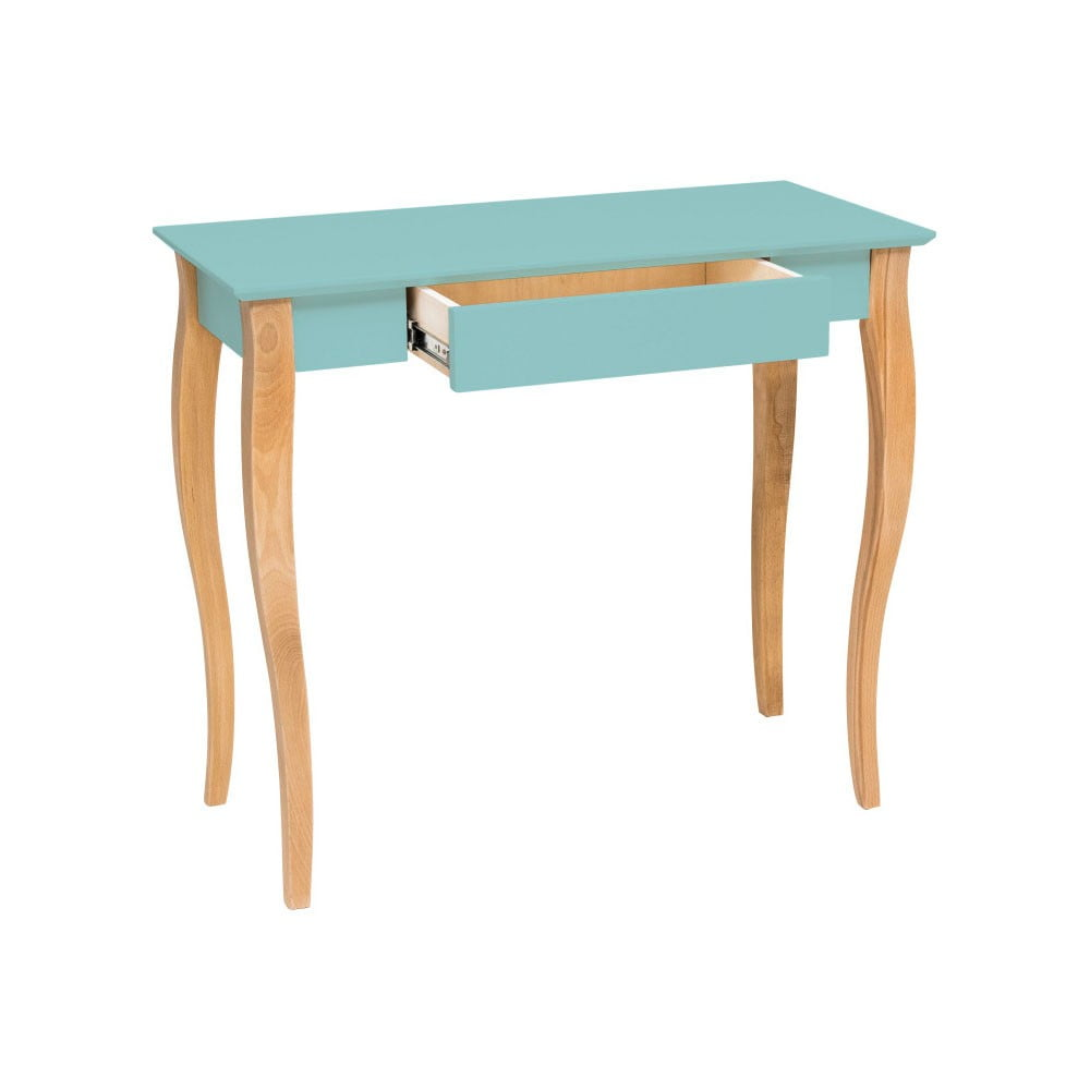 Světle tyrkysový psací stůl Ragaba Lillo, šířka 65 cm