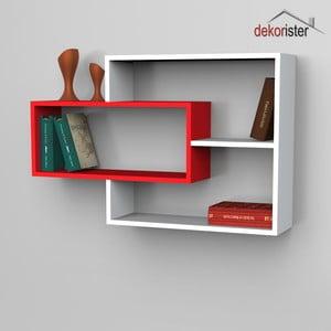 Police Sementha Book White/Red, 22x104,1x66,2 cm
