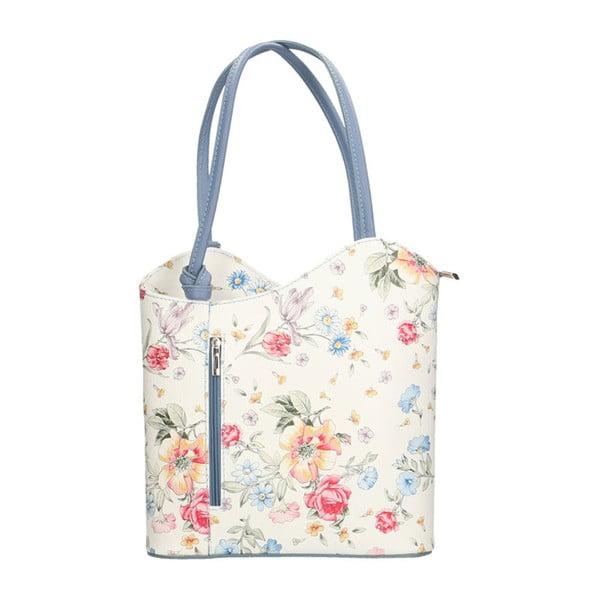 Kožená kabelka s modrými detaily Chicca Borse Paraya