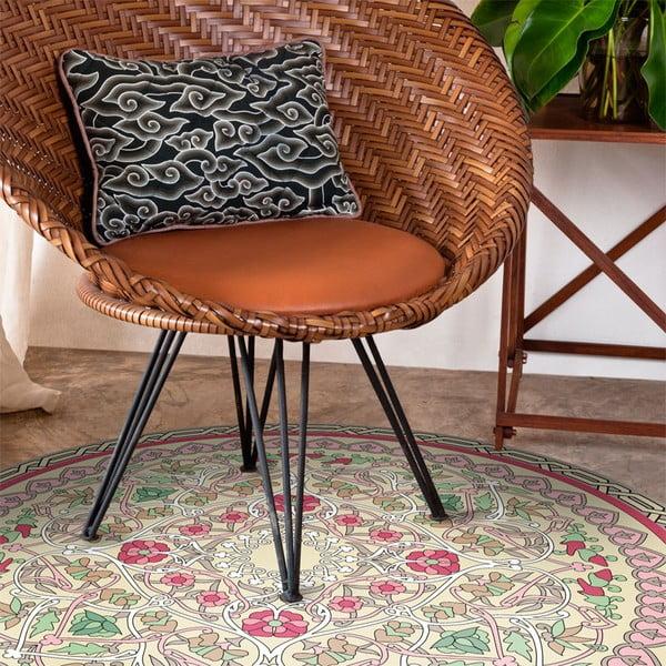 Odolný vinylový koberec Round Geo, 100 cm