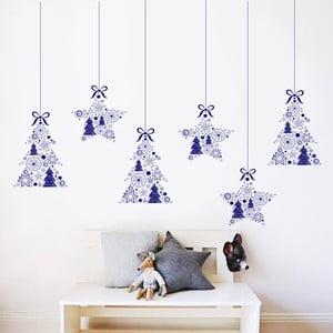 Samolepka na stěnu Stromečky a hvězdičky, 90x60 cm