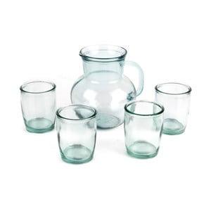 Set ručně vyrobeného džbánu a 4 sklenic Madre Selva Juego