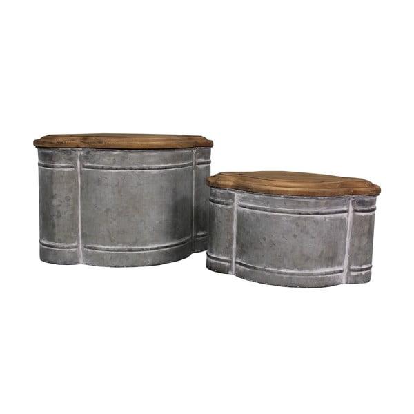 Sada 2 kovových boxů Antic Line Greso
