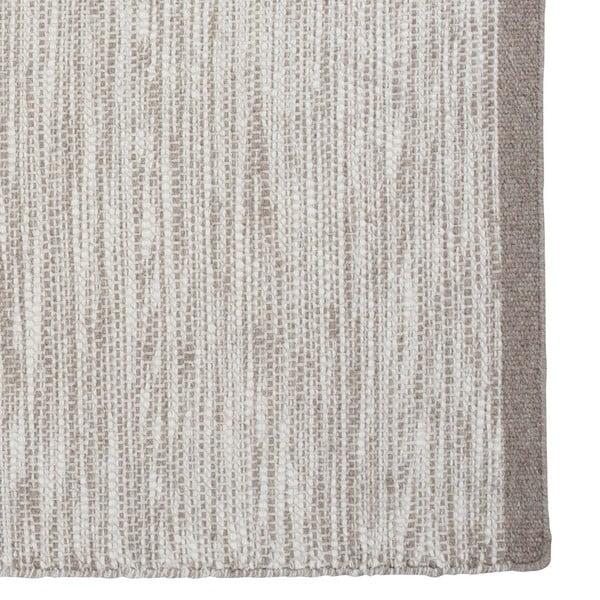 Vlněný koberec Asko, 80x250 cm, stříbrný