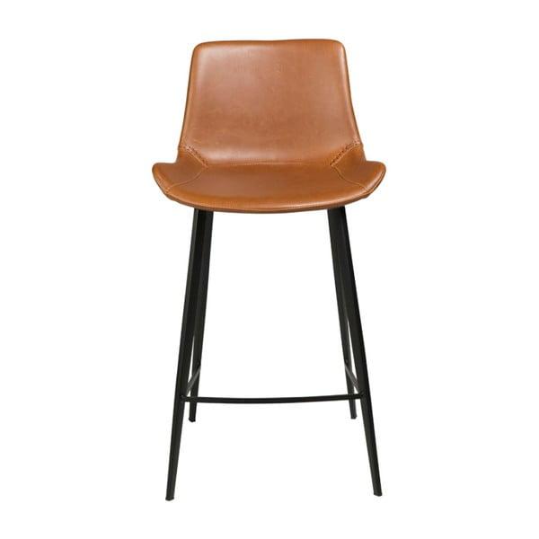 Světle hnědá koženková barová židle DAN-FORM Denmark Hype