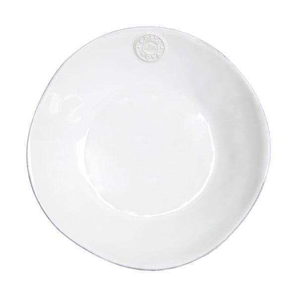 Farfurie adâncă din gresie ceramică Costa Nova, Ø 25 cm, alb