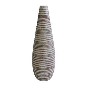 Světle hnědá váza Stardeco Drop, 37,5 cm