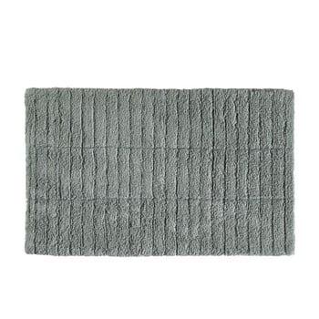 Covor baie din bumbac Zone Tiles, 50 x 80 cm, verde gri