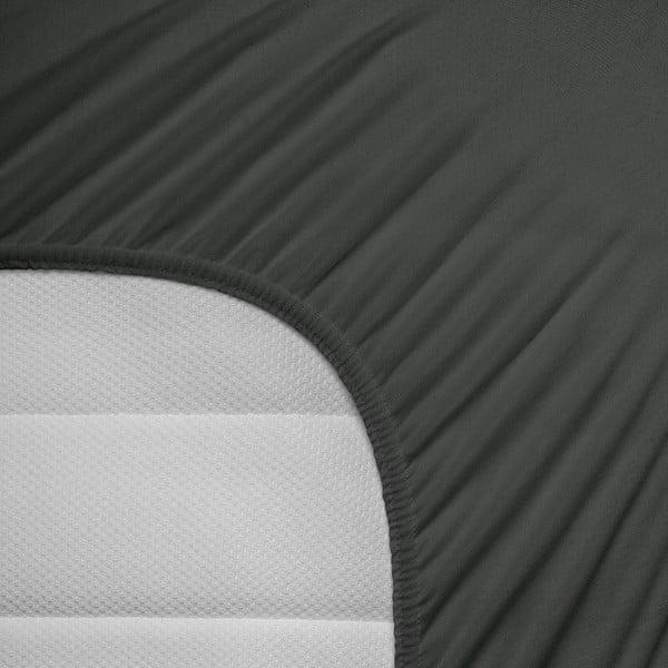 Antracitové elastické prostěradlo Homecare,190-200x200-220cm