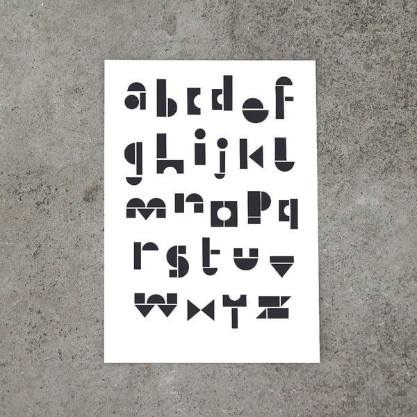 Plakát SNUG.ABC, 50x70 cm, černobílý