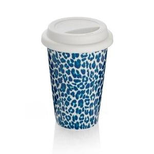 Cană de voiaj Sabichi  Leopard, albastru, 300 ml