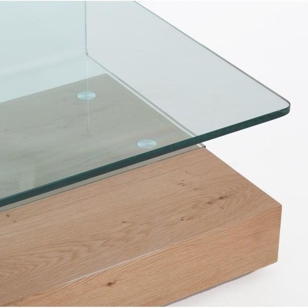Konferenční stolek ze skla a dubového dřeva Ángel Cerdá Comedy