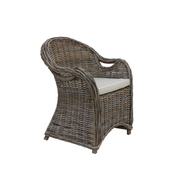 Křeslo z koboo ratanu s krémovým sedákem HSM collection Parma