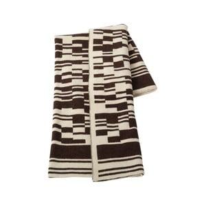 Vlněná deka 130x160 cm, tmavě hnědá