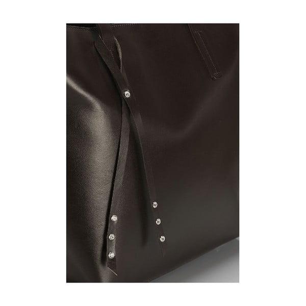 Kožená kabelka Giorgio Costa 15005 Dark Brown