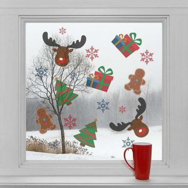 Elektrostatické vánoční samolepky Vánoční symboly
