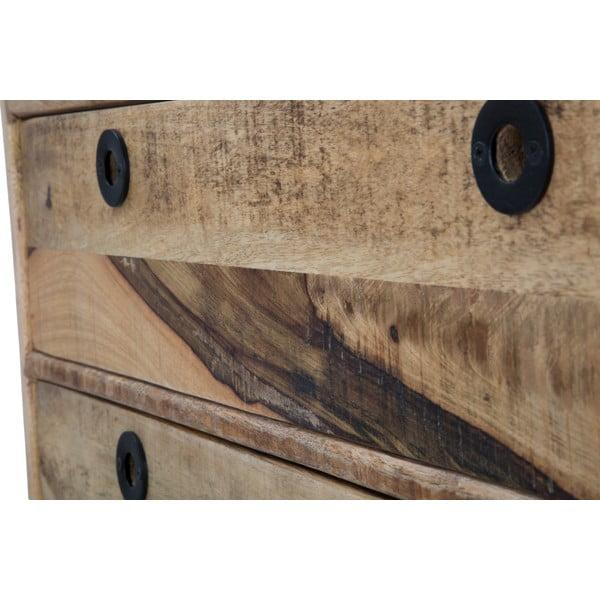 Comodă din lemn de mango Mauro Ferretti Belgrado, lățime75cm