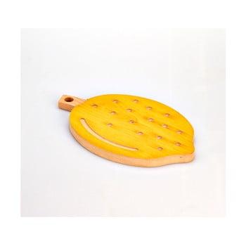 Tocător din lemn de fag Bisetti Lemon, 21 x 34 cm imagine