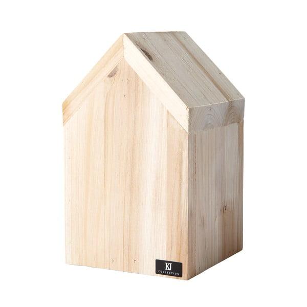 Dekorativní domeček 16 cm, dřevěný