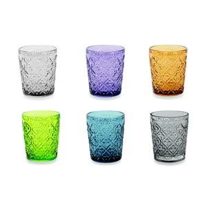 Sada 6 barevných skleniček Villa d'Este Marrakech, 240 ml