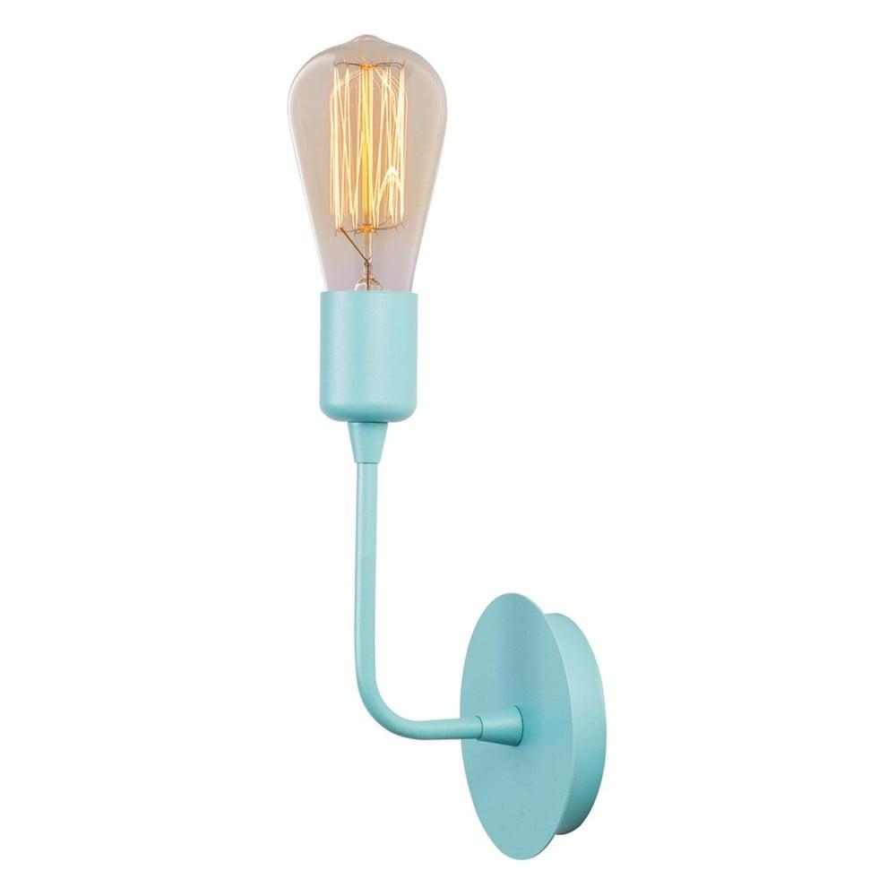 Bledě modrá nástěnná lampa Simple Drop