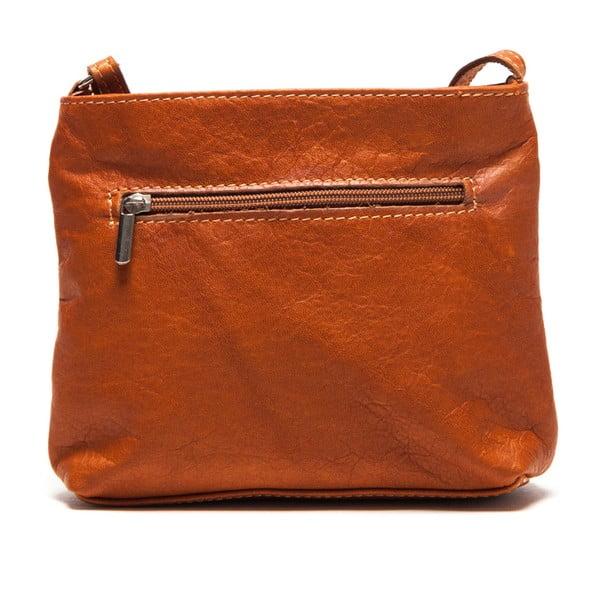 Kožená kabelka Roberta M. 241 Cognac