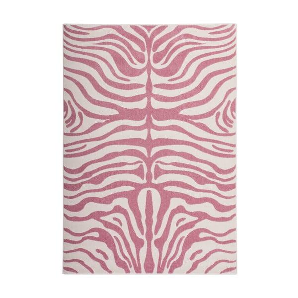 Růžový koberec Kayoom Fusion, 160 x 230 cm