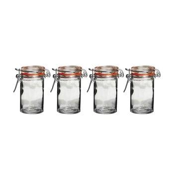 Set 4 borcane din sticlă cu capac Premier Housewares imagine